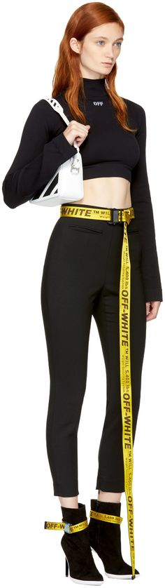 1328c8a019593 Off-White - Yellow & Black Industrial Belt Yellow Belt, Yellow Black, Off