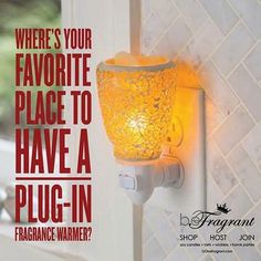So... give it up!  Where?  We'll start.... BATHROOM‼️ #warmer #love #homefragrance #waxmelts #soymelts #happy #place  http://corporate.gobefragrant.com/shop/Wax-Warmers/Plug-In-Tart-Warmers/