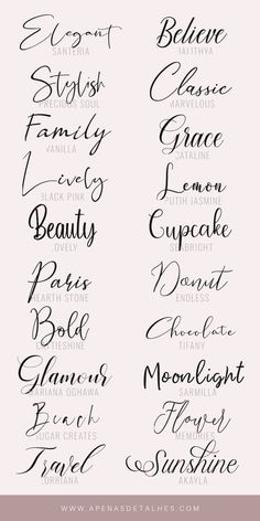 Lettering Tutorial, Lettering Ideas, Hand Lettering Fonts, Typography Fonts, Tattoo Roman, Pretty Fonts, Pretty Cursive Fonts, Free Cursive Fonts, Fancy Fonts