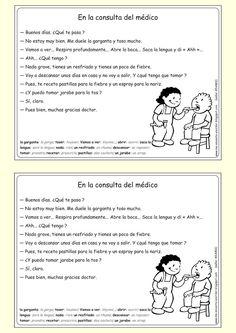 Me encanta escribir en español: Diálogo : En la consulta del médico.