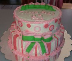 Peas in a Pod baby shower cake