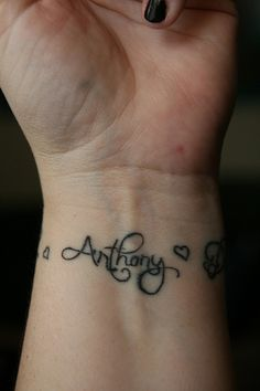 I want this tattoo of my children's names :)