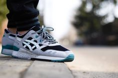 Asics Gel Lyte III - Black Grey Mint. Nice laces. #sneakers