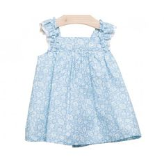 www.pepaonline.com    Lo mejor para ellos. Vestido azul estampado de la Marca Fina Ejerique en Vestidos para Bebé. Compra en nuestra boutique infantil online y acertarás!