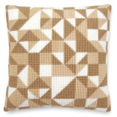 Abstract Triangles Pillow Top - Cross Stitch, Needlepoint, Embroidery Kits – Tools and Supplies Bargello Patterns, Bargello Needlepoint, Needlepoint Pillows, Triangle Pillow, Counted Cross Stitch Kits, Embroidery Kits, Cross Stitch Designs, Needlework, Knitting Patterns