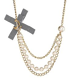 Anna & Ava Nautical Anchor Bow Necklace