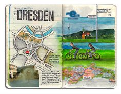 Travel Journal ideas - draw your own maps. If only I could draw!