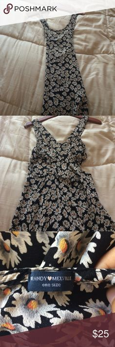Discontinued Brandy Melville Daisy dress Super cute dress! Only worn twice, excellent condition. Super cute cut out in the back as well! :) Brandy Melville Dresses