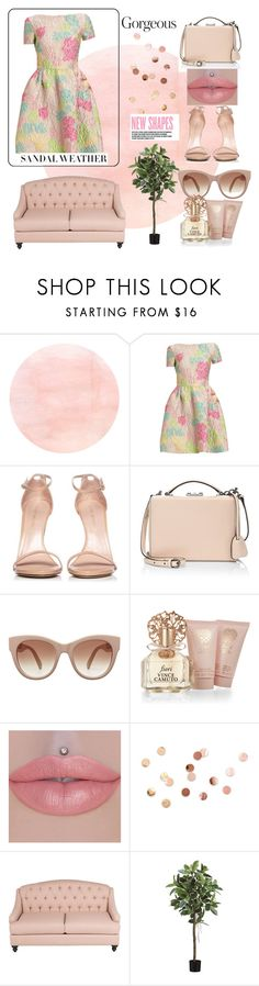 """""""floral dress"""" by queensousou ❤ liked on Polyvore featuring Stuart Weitzman, Mark Cross, STELLA McCARTNEY, Vince Camuto, Umbra and Charli"""