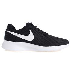 Nike Tanjun Mens 812654-011 Black White Mesh Athletic Running Shoes Size 10.5