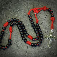 Z-Custom Red Paracord Rosary for Richelle