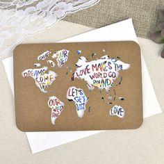 invitación de boda diseño mapamundi cuaderno de viaje