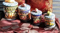 Vintage Canister Set Vegetable Theme Ceramic | Collectibles, Kitchen & Home, Kitchenware | eBay!