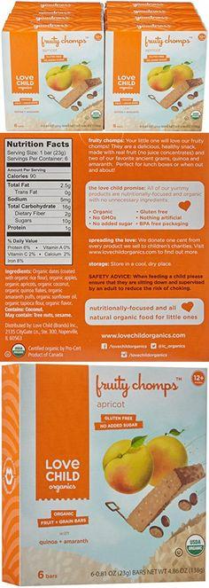 Love Child Organics Fruity Chomps-Apricot-4.86 Ounces-8 Pack