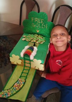 Leprechaun Trap Our family project for his kindergarten class