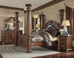 homefurniture.nyc - Aico Monte Carlo II Cafe Noir Queen Poster Bed with Canopy, $3,706.00 (http://www.homefurniture.nyc/aico-monte-carlo-ii-cafe-noir-queen-poster-bed-with-canopy/)