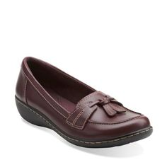 f5410f4724e Ashland Bubble Burgundy Leather womens-flats Tassel Loafers