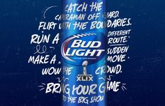 BudLight Superbowl XLIX — The Dieline - Package Design Resource