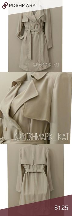 Doubled Breasted Trench Gorgeous Classic Trench Coat Color: Sandstone Beige Available sizes: M,L,XL   -2 side pockets -Removable waist belt -Double breasted front -Classic caped shoulder  -Lightweight  Brand new with tags Jackets & Coats Trench Coats