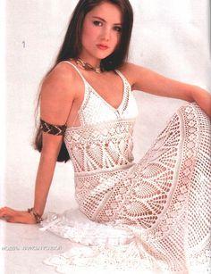 TEJIDOS CROCHET: vestido Crochet