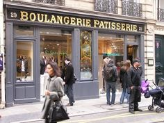 Some old baker shops (boulangerie in French) where so beautiful that even after been transformed into a clothes store they kept the signs.