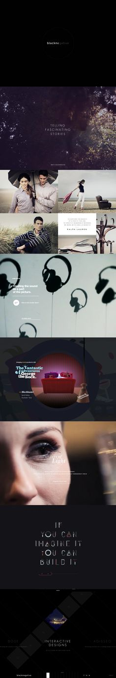 Unique Web Design, Blacknegative via @grauagency #Web #Design #Black