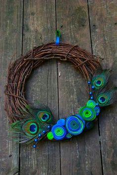 Peacock wreath idea