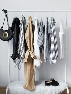 Run out of closet space? Buy or repurpose a clothing rack by showcasing your favorite pieces as a decor element. Get inspired by these five minimalist-chic spaces that make the best of the garment...