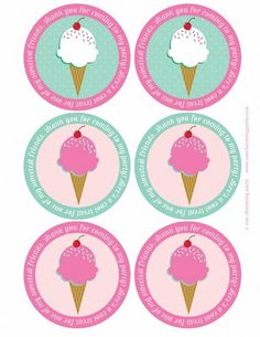free printable for ice cream party favors