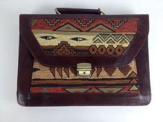 Goat Leather Briefcase Laptop Bag Messenger Brown Orange 3rd Anniversary Gift #Handmade #BriefcaseAttache
