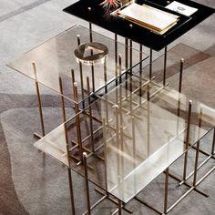 tetris glass and metal coffee table by gallotti u0026 radice klarity glass furniture