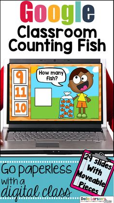 Google Classroom | Digital learning | Math center | Kindergarten | Increase number sense and counting and cardinality in your technology and math centers with this digital resource. Kids will identify the amount in the set and show their answer by moving the correct number. They will also have practice with teen numbers by counting on from 10. This aligns with the common core standards.