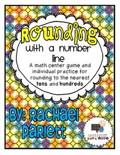 Rounding With a Number Line Here's a set of games on rounding using a number line. Includes rounding to the nearest ten and nearest hundred.Here's a set of games on rounding using a number line. Includes rounding to the nearest ten and nearest hundred. Classroom Freebies, Math Classroom, Classroom Ideas, Future Classroom, Fourth Grade Math, Second Grade Math, Grade 3, Math Numbers, Rounding Numbers