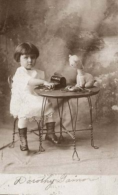 Love this picture....My mom had some old chairs just like these....don't know what happened to them.