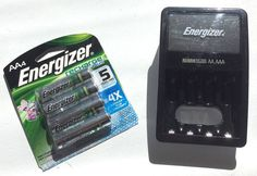 Energizer Charger & Battery Combo 120VAC 4-Slots Charge NiMH AA/AAA  #Energizer