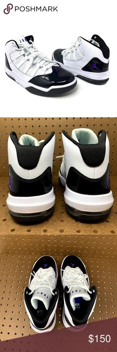 199c7008b211 Nike Air Jordan Max Aura Men s Basketball Shoes NIKE Nike Jordan Max Aura  Nike Air Men s Basketball Shoes Size 10 White Dark Concord-Black Mid-top  Lace-up ...