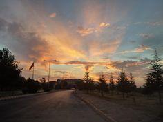 Erciyes Üniversitesi'nde Gün Batımı
