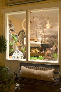 A Beautiful Mess Antiques: Belle Blanc Book Pre-order & Our Window