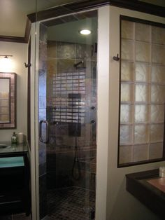 Cinnamon and frosting are not just for baking anymore! This DIY Bathtastic project used a cinnamon and frosted glass block window to move light into the bathroom and maintain privacy - very fun!