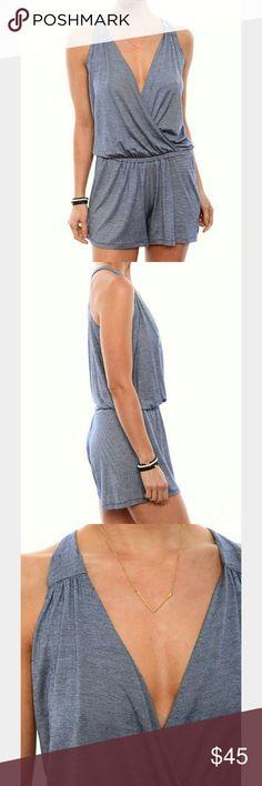 Amour Vert Josie Sleeveless Surplice Romper. Amour Very Josie sleeveless surplice romper size large. Made in U.S.A. Amour Vert Pants Jumpsuits & Rompers