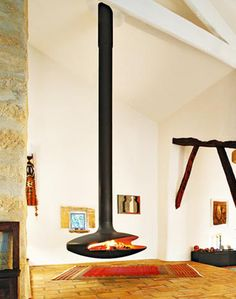 An interesting take on fireplace design. This one's called the Gyrofocus.