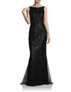 embellished-lace-mermaid-gown by david-meister. #fashiontrend #dresses #outfit #gorgeous #shoptagr