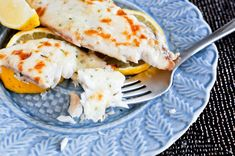 Easy Baked Parmesan Tilapia - only 5 ingredients and two of them are butter and cheese. What's more delicious than that?