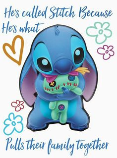 Lilo & Stitch Quotes, Amazing Animation Film for Children Stiche - Popular Disney Cute Lilo And Stitch Quotes, Lilo Y Stitch, Cute Stitch, Lilo And Stitch Drawings, Disney Drawings, Cute Drawings, Toothless And Stitch, Film Anime, Stitch And Angel