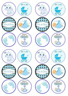 Cupcake toppers baby shower baby boy shower cupcake toppers part sweetun treats special occasions sweetun edible cupcake toppers baby shower treats Baby Shower Treats, Baby Shower Cupcake Toppers, Baby Boy Shower, Dibujos Baby Shower, Imprimibles Baby Shower, Baby Shower Invitations For Boys, Baby Shower Printables, Baby Decor, Baby Shower Decorations