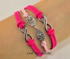 Handwoven personality infinite owl bracelet gift by Coolmybracelet, $3.99