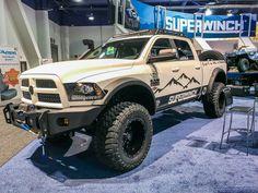 gen Ram lifted, offroad-ready - build by Superwinch Big Rig Trucks, Ram Trucks, Dodge Trucks, Diesel Trucks, Lifted Trucks, Cool Trucks, Pickup Trucks, Custom Jeep, Custom Trucks