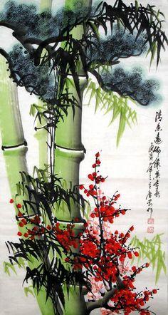 Bamboo Plum Pine ~ Chinese Painting