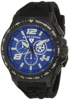 Relógio Swiss Legend Men's 10040-BB-03 Sprint Racer Chronograph Blue Dial Watch #Relogio #Swiss Legend