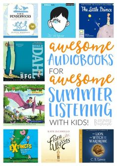 The Best Audiobooks for Kids - to Make Summer Learning Easy Peasy and Fun - at B-Inspired Mama
